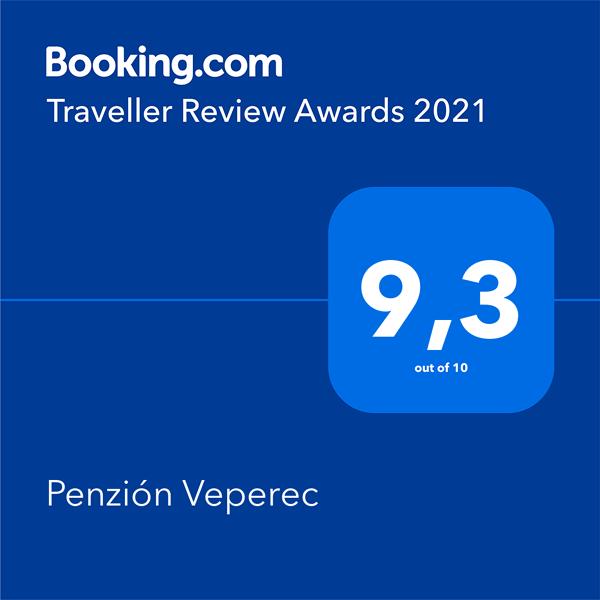 Ocenenie Penziónu Veperec pre rok 2021